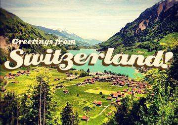 Greetings from switzerland vintage postcard typography www greetings from switzerland vintage postcard typography kellimarie m4hsunfo