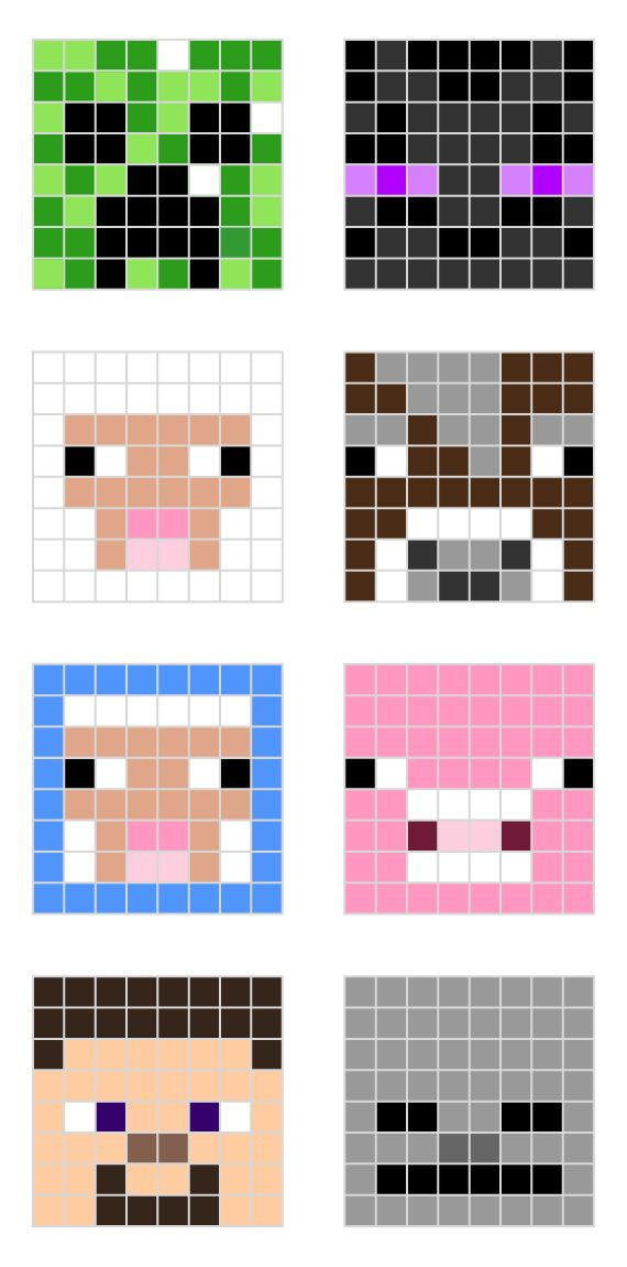 Minecraft Pixel Art Templates For The Tiny Human Minecraft