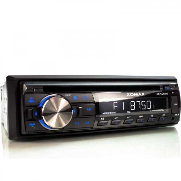 xomax xm cdb612 usb und cd autoradio mit bluetooth 1din. Black Bedroom Furniture Sets. Home Design Ideas