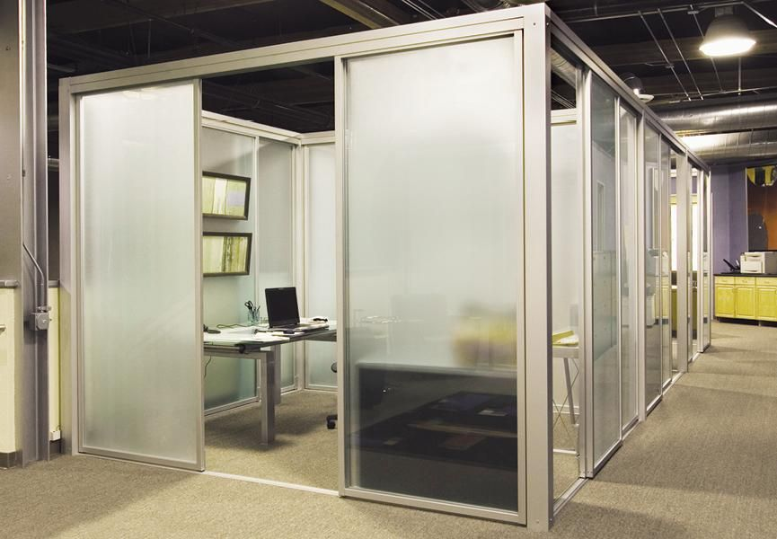 Glass walls cubicle enclosures office cubicles commercial spaceplus comes in many different frames and combinations of glass commercial workspace glass walls glass cubicles planetlyrics Images