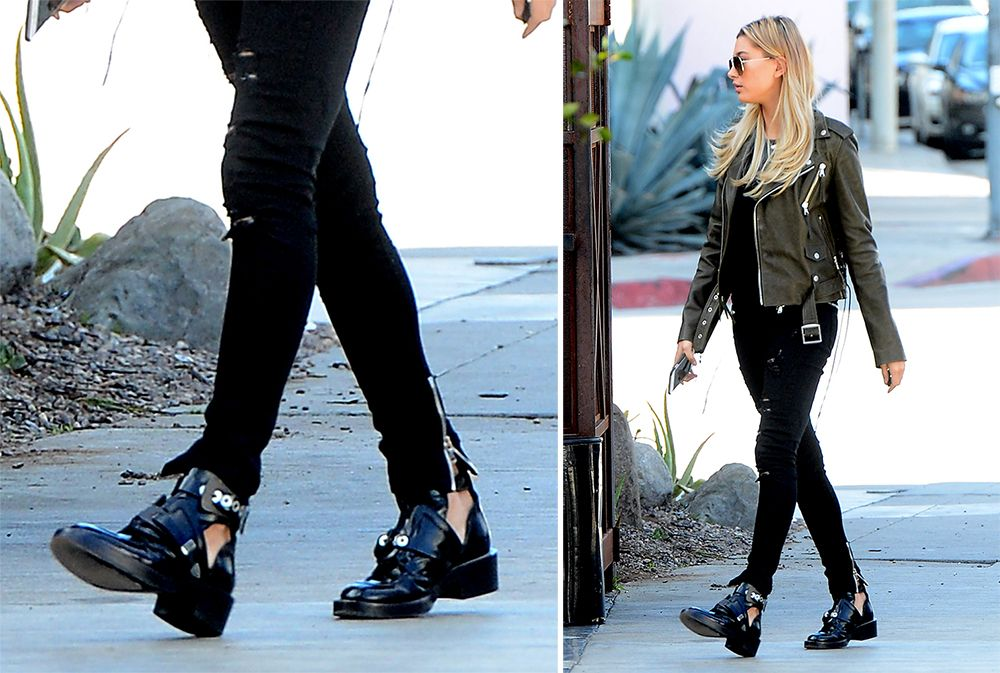 Hailey Baldwin Balenciaga Ceinture Ankle Boots   shoes news ... 4bb7dd72f108