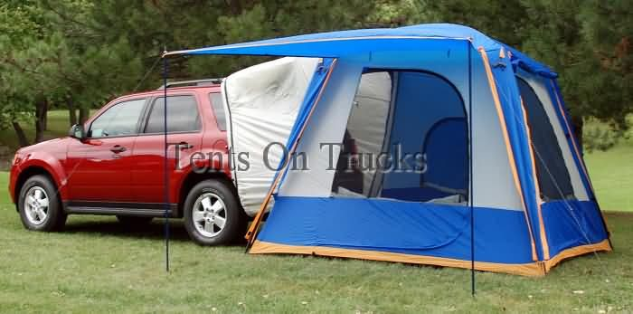 Attach a tent to the back of the van for ez c&ing & Attach a tent to the back of the van for ez camping | Road Trip ...