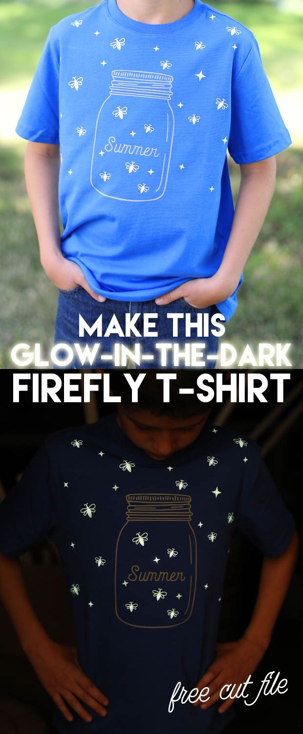 T Shirt Design Selber Machen Diy Glow In The Dark Firefly Shirt Diy Ideas Selbermachen