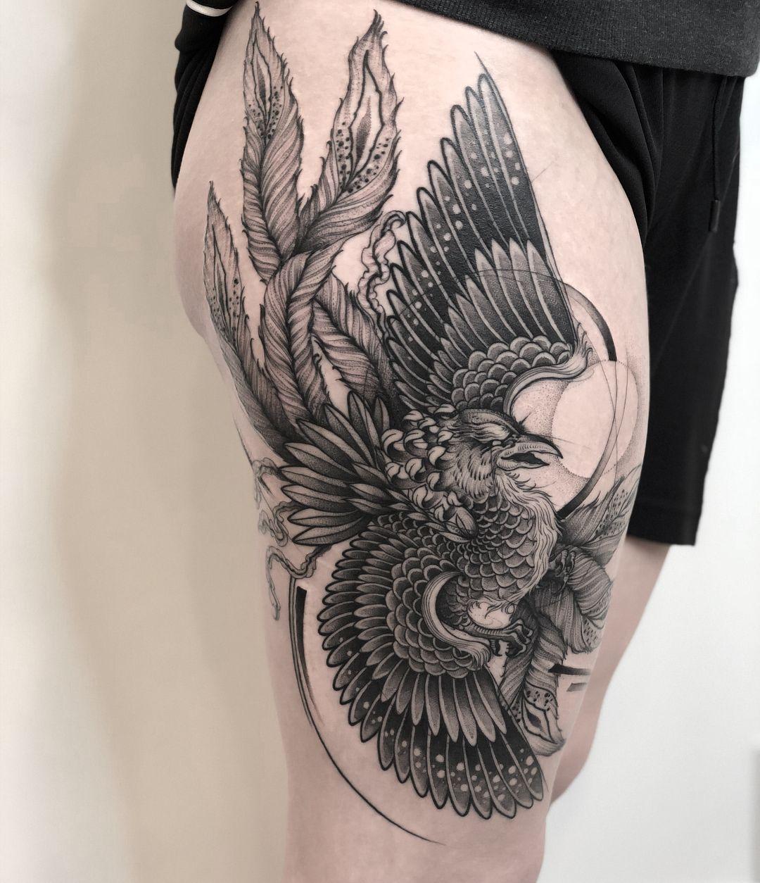 Пин от пользователя Анастасия на доске Татуировка феникс