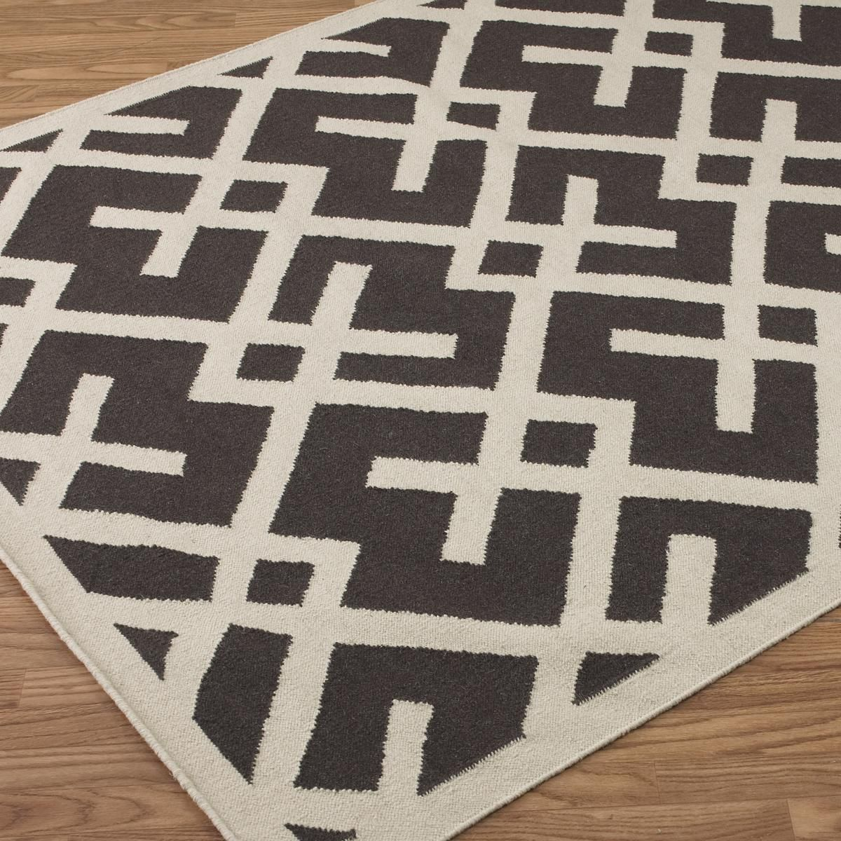 Modern Geometric Dhurrie Rug 3 Colors Available