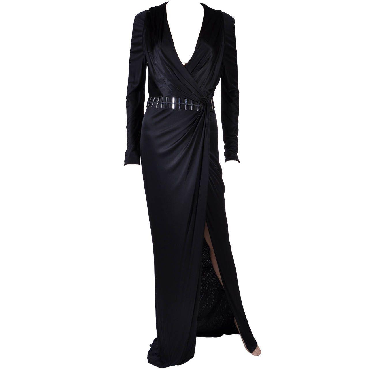 New versace black wrap dress wrap dresses versace and jet black color