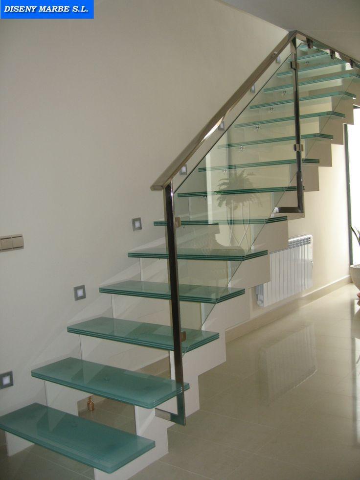 Resultado de imagen para barandas en acero inoxidable cuadrado y redondo y vidrio barandas - Barandilla cristal escalera ...