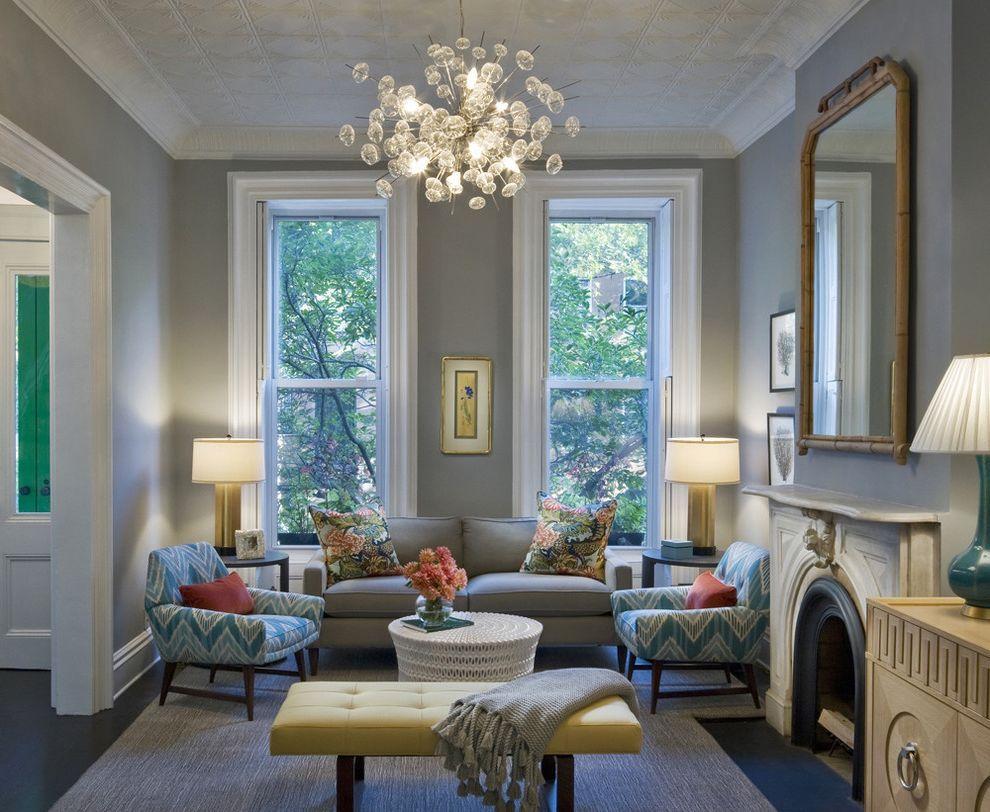 Best Benjamin Moore Stonington Gray Transitional Living Room 400 x 300