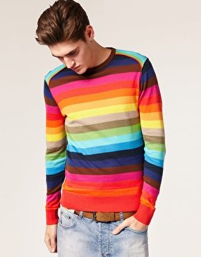 Image result for male rainbow jumper