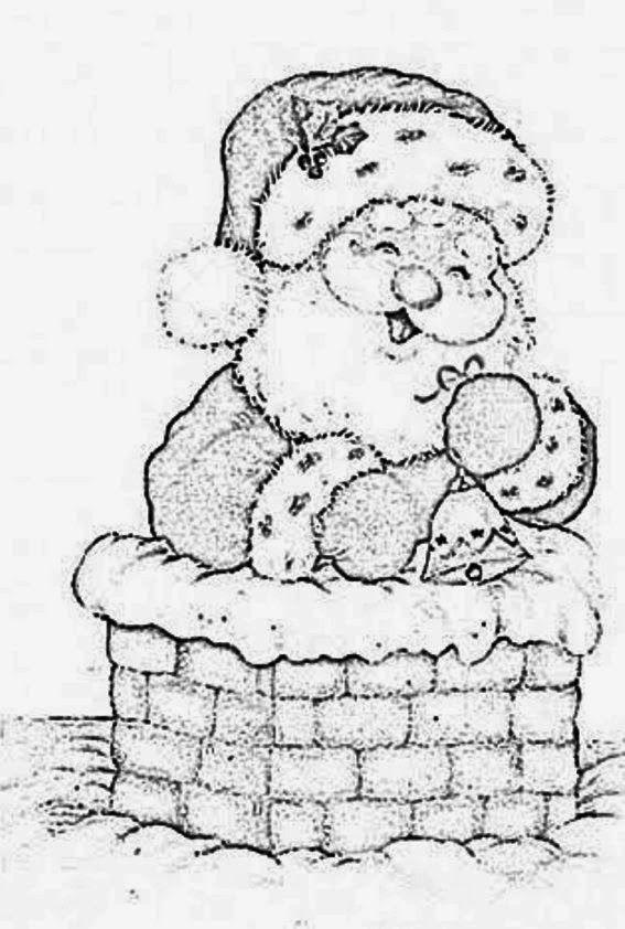 Risco Natal Papai Noel Artesanato Pintura Em Tecido Modelo