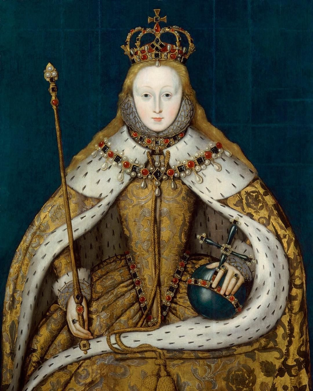 This painting is known as 'The Coronation portrait', and