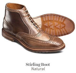 1f7ac4407f7 Allen Edmonds New Stirling Boot in Natural | Products I Love | Shoes ...