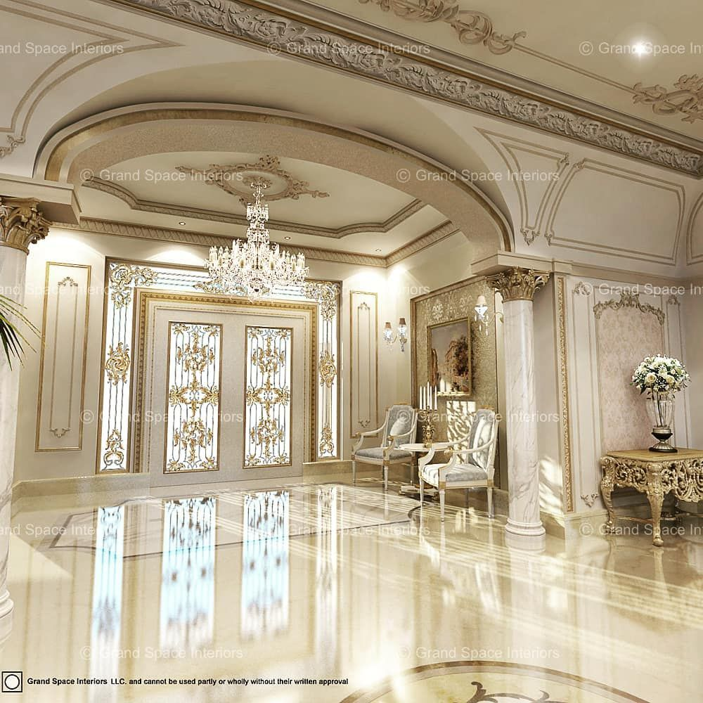 Majestic Interiors An Interior Designing Firm: Luxury Palace Entrance Designed By Grand Space Interiors