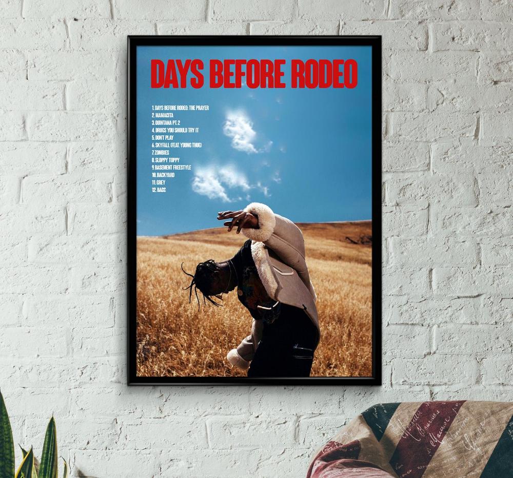 X239 New Travis Scott Days Before Rodeo Rap Music Album Art Poster Print Decor