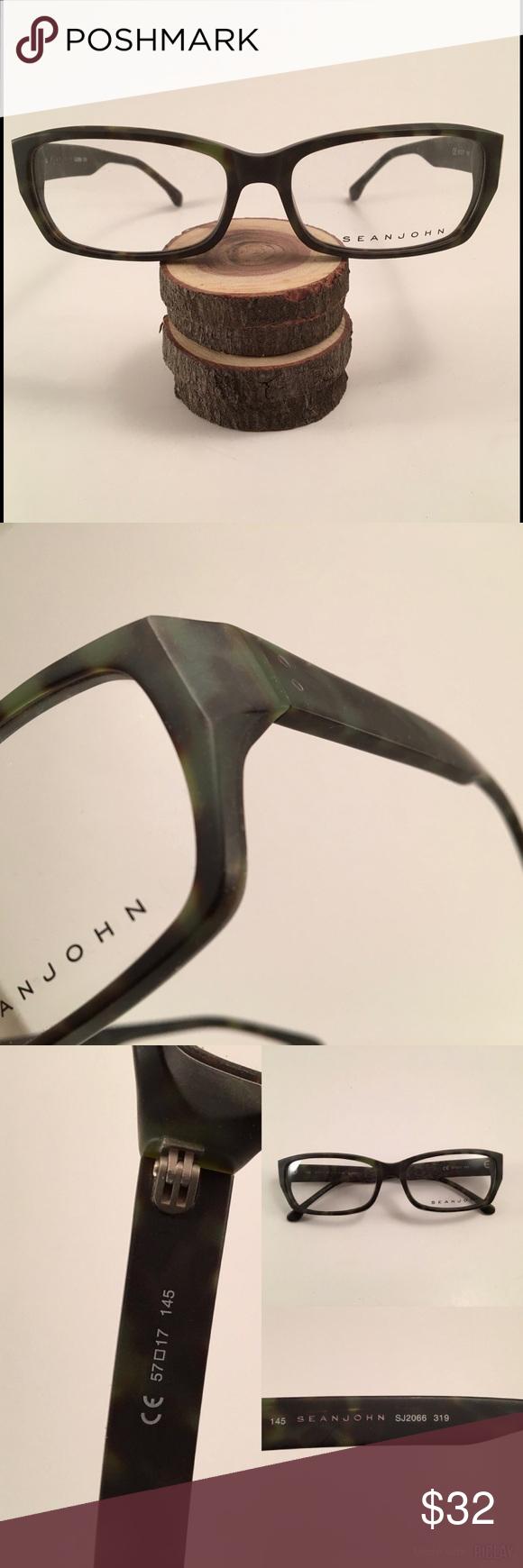 🛍 Sean John Army Green Tortoise Eye Glass Frames