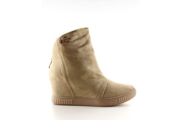 Pozostale Sportowe Damskie Obuwiedamskie Brazowe Zamszowe Sneakersy Ukryty Koturn 1133 Beige Obuwie Damskie Shoes Boots Wedge Boot