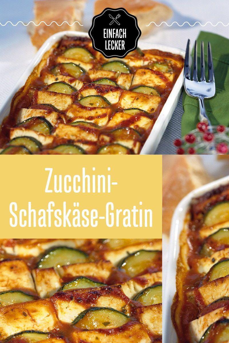 ZucchiniSchafskäseGratin