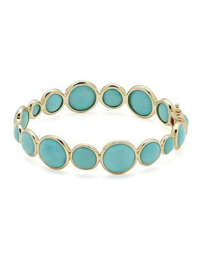 7cbd38beb61 Ippolita 18k Gold Lollipop® Hinged Bangle in Turquoise in 2019 ...