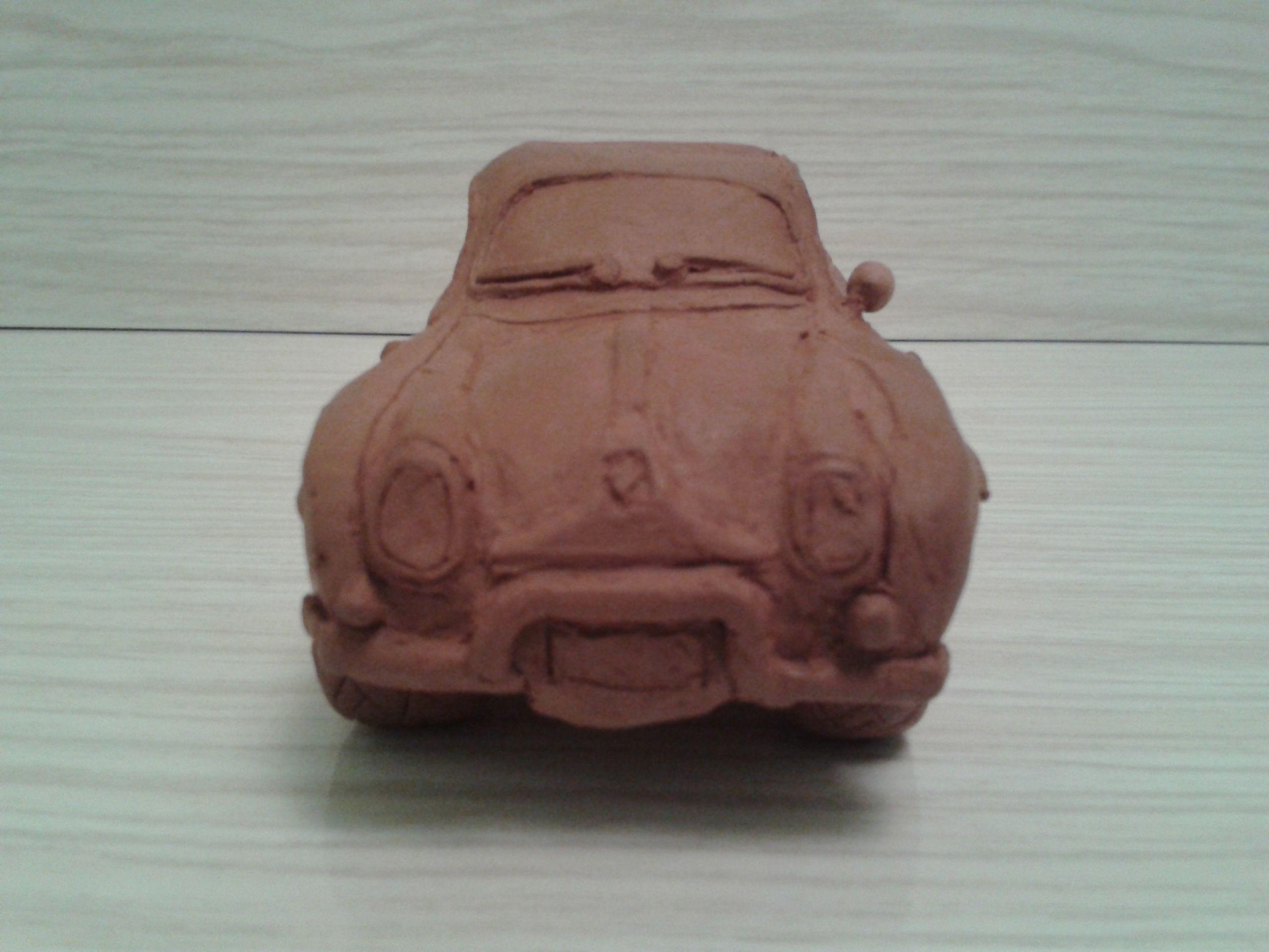 Renault  Gordini de arcilla. Delantero. Rosa Blanca. Palencia.