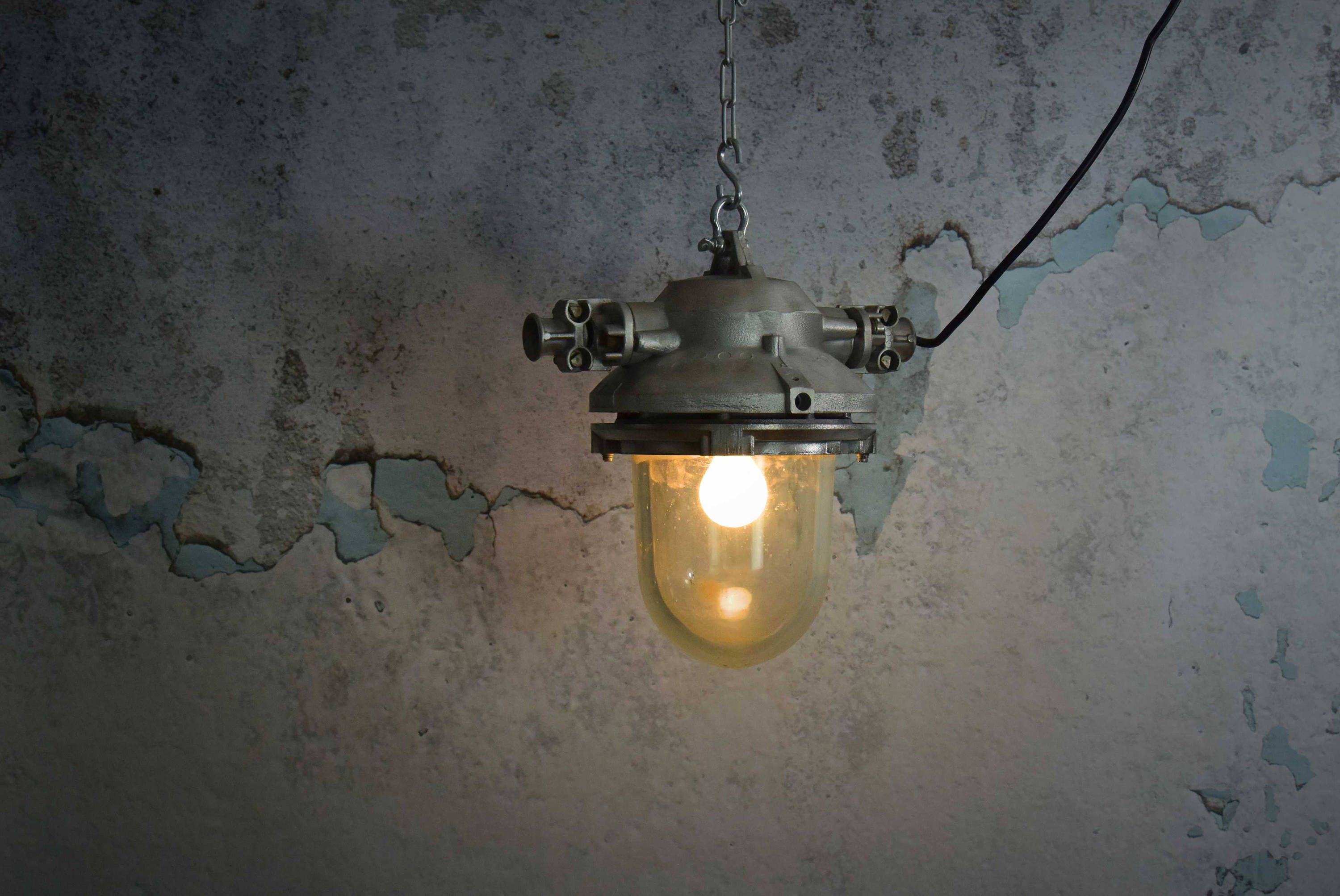 Vintage czech industrial lights industrial pendant light