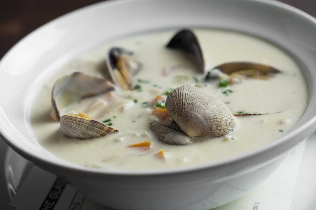 New England clam chowder from Water Grill: