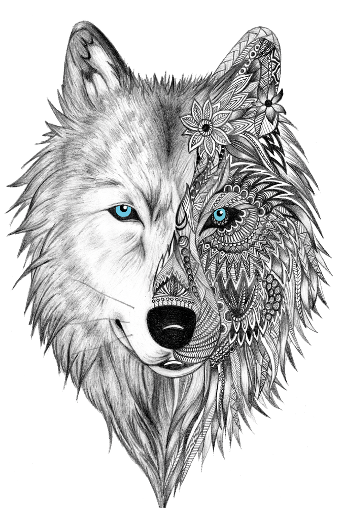 White Wolf Sticker By Whitewolfdesigns86 White Background 3 X3 In 2020 Pictures To Paint Wolf Spirit Animal Wolf Tattoo Design