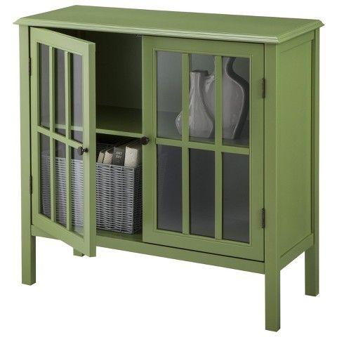Windham 2 Door Accent Cabinet Cabinet Gray Threshold Accent Doors Accent Cabinet Storage Cabinet