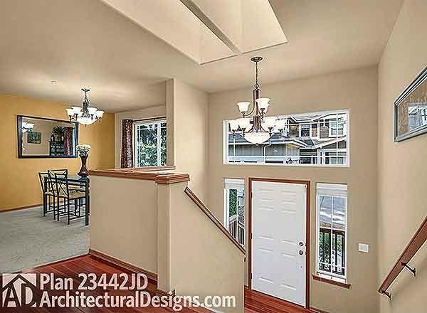 Split Level Home Foyer : Plan jd spacious split level home house
