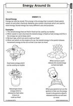 Energy around us (Grade 4) | Energy and change | Pinterest | Teacher ...