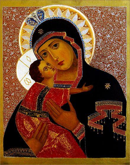 Icono ortodoxo ruso 05 pintura de Ludmila Andersson