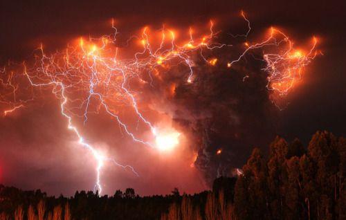 lightening storm lights up the sky...