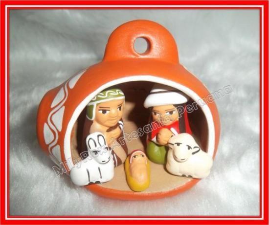 Nacimiento serrano belen andino peru 1 arcilla pintura for Ceramica artesanal peru