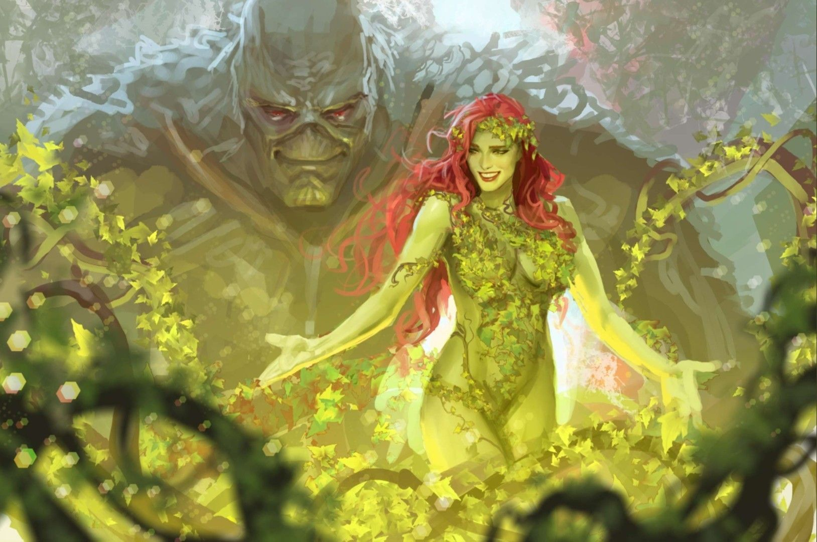 Ivy Swamp Thing The Guardians Of The Green Swampthing Poison Ivy Dc Comics Poison Ivy Comic Dc Poison Ivy