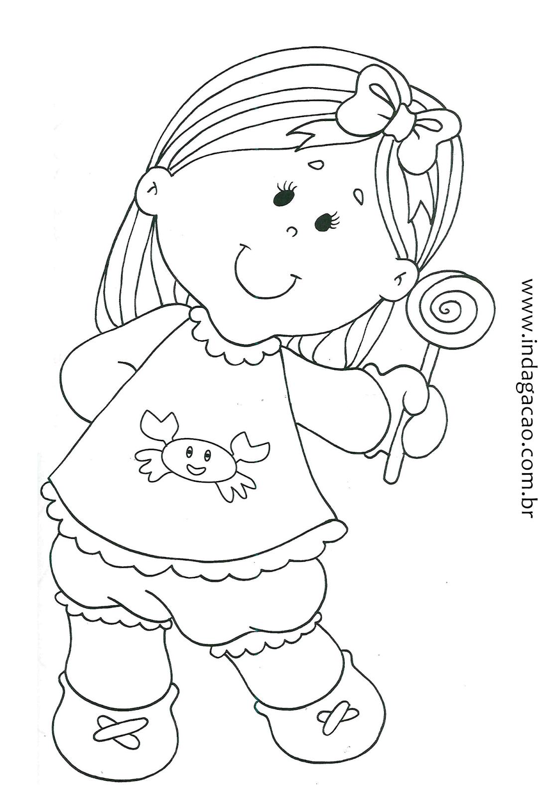 Desenho De Menina Pirulito Baixar Gratis Riscos Para Pintura