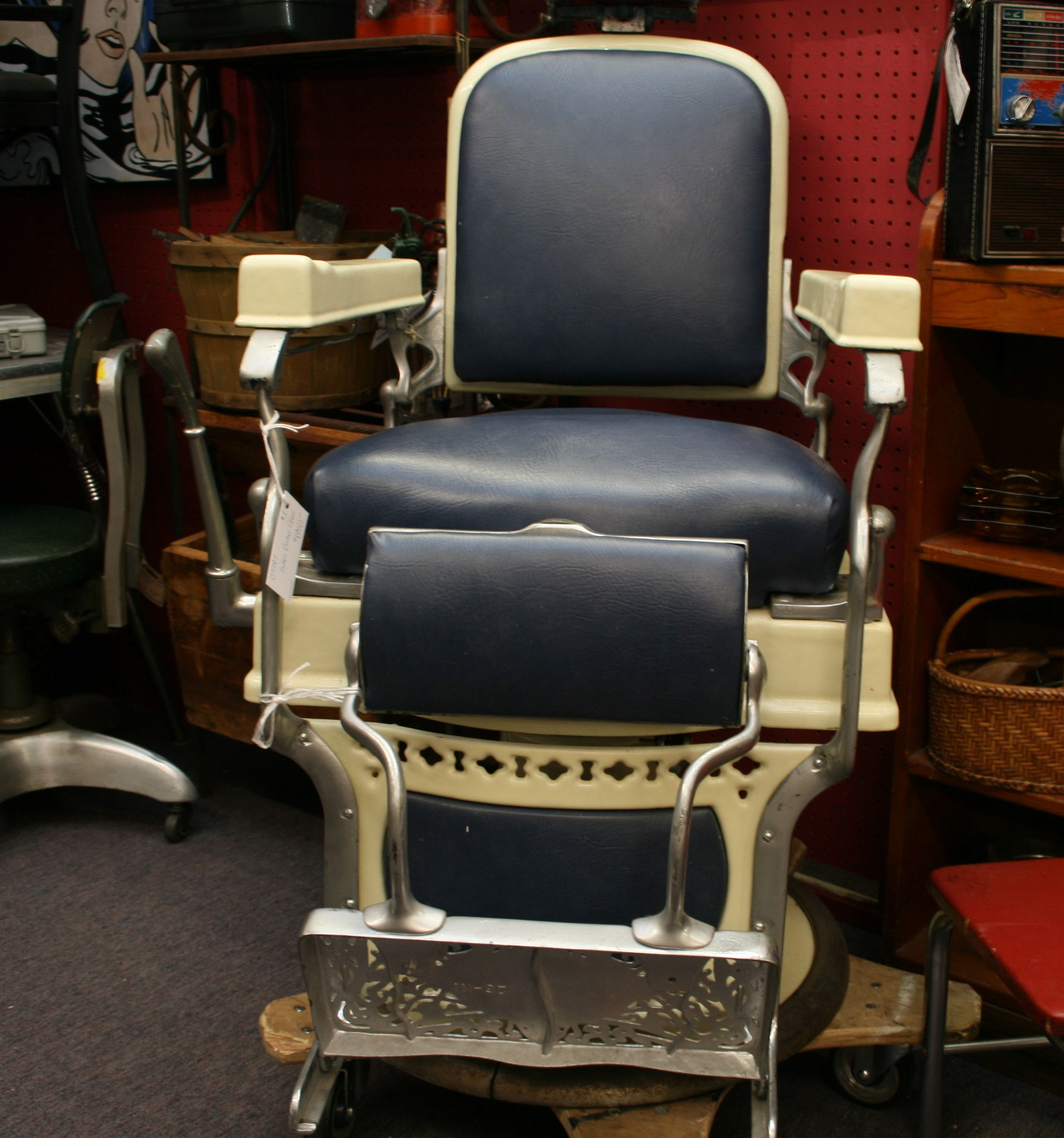 great koken barber chair, $1950 from c5797 ~ #woodstockantiques