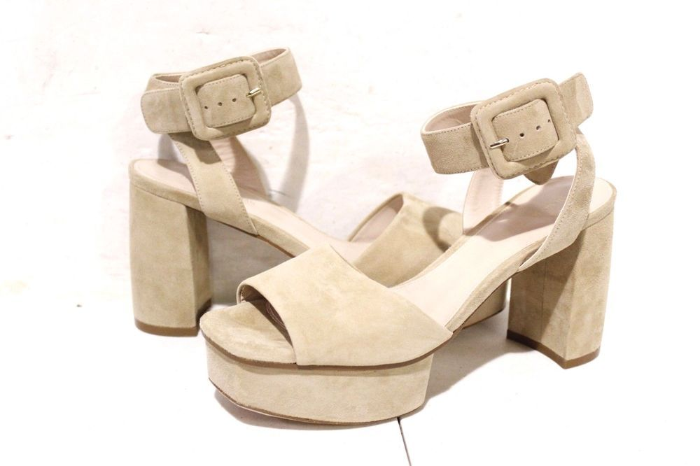 8db3ade7bbef 02-753 Stuart Weitzman Carmina Platform Sandal MOJAVE SUEDE Women s SIZE 7