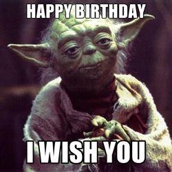 Yoda birthday | birthday quotes | Yoda quotes, Dance memes ...