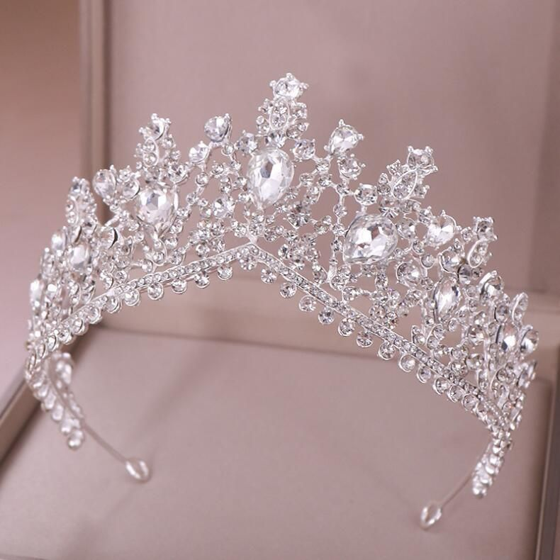 Classic White Crystal Quinceañera Tiara