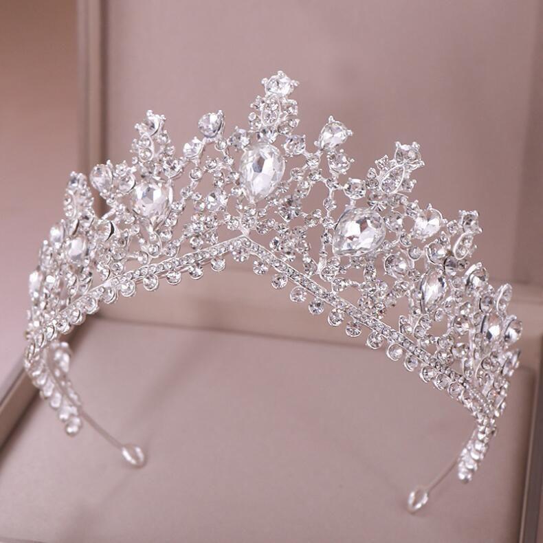 Classic White Crystal Quinceañera Tiara | Mi Padrino