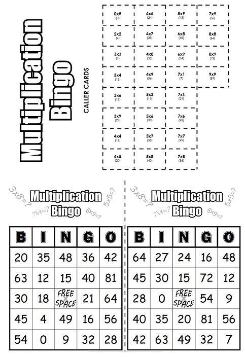 Multiplication Bingo Multiplication Multiplication Bingo Super Teacher Worksheets Super teacher worksheets multiplication