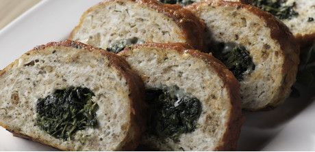 This twist on an old meatloaf recipe makes adds a nutritious and tasty dose of vegetables. With its spinach-and-cheese filling and marinara topping, this turkey roll offers a lean and green alternative to the traditional beef version.