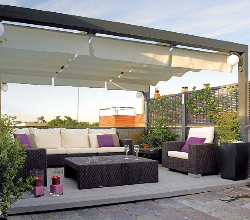 Pergolas de hierro modernas buscar con google p rgolas p rgolas terrazas y toldo terraza - Pergolas de madera en sevilla ...