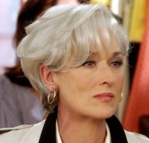 OK--let's find all the cool white haired ladies out there! White IS a color and it is  AWESOME! It is like silver!