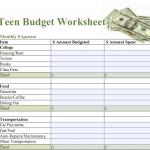 Items similar to Budgeting Worksheet - Basic Home Budget - Teen ...