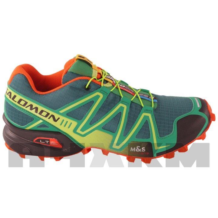 Zapatillas Trail Running Salomon Speedcross 3 en color verde para hombre.  Destacan por su gran