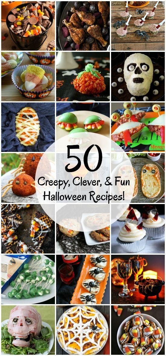 Creepy, Clever, and Fun Halloween Recipes Halloween Pinterest - halloween food ideas for party