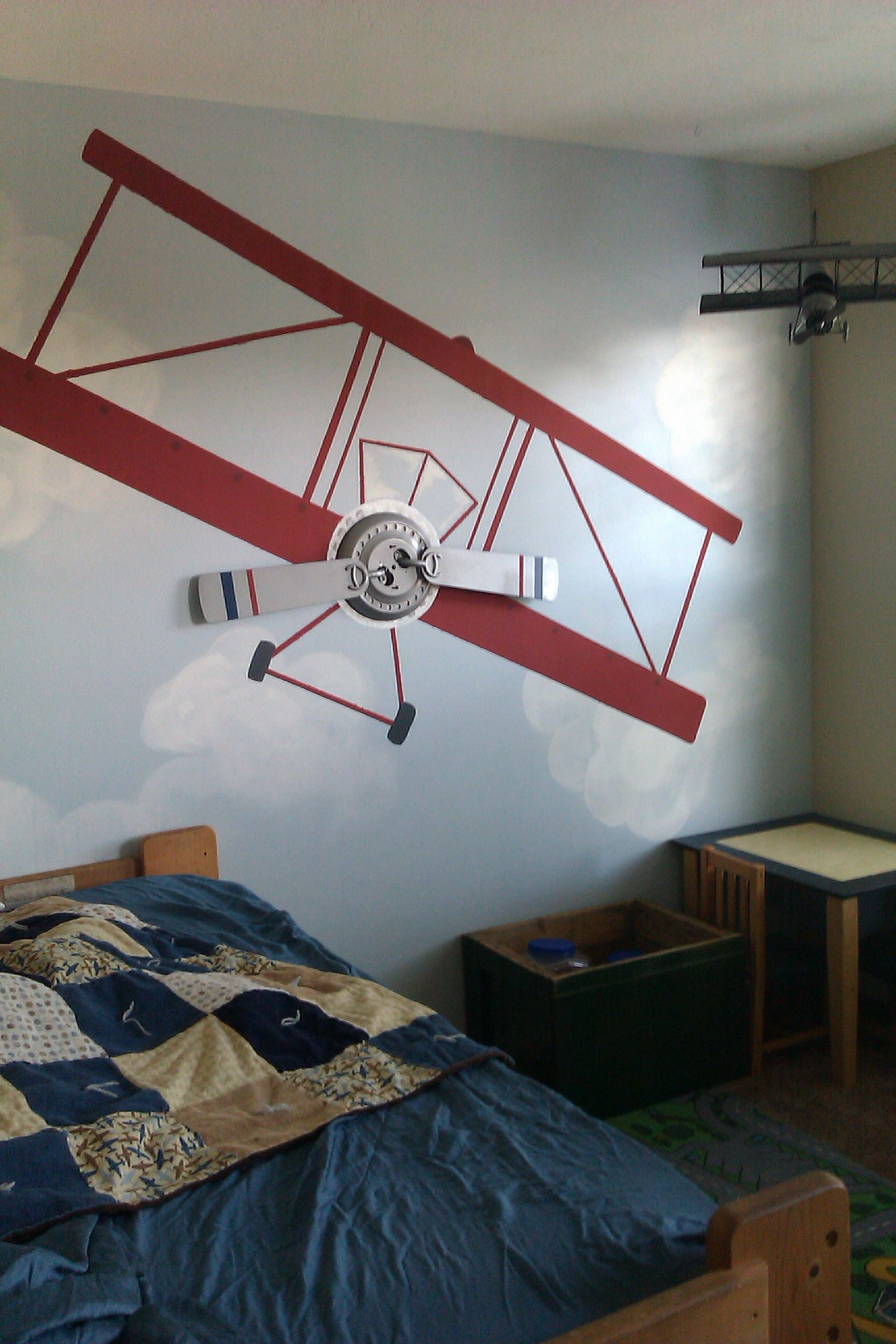 Best Airplane Wall For Boys Room Plane Kids Room Boys 640 x 480