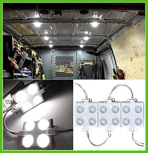 12V 40 LEDs Van Interior Lights White LED Lamp Waterproof with LED Project Lens for LWB Van Boats C