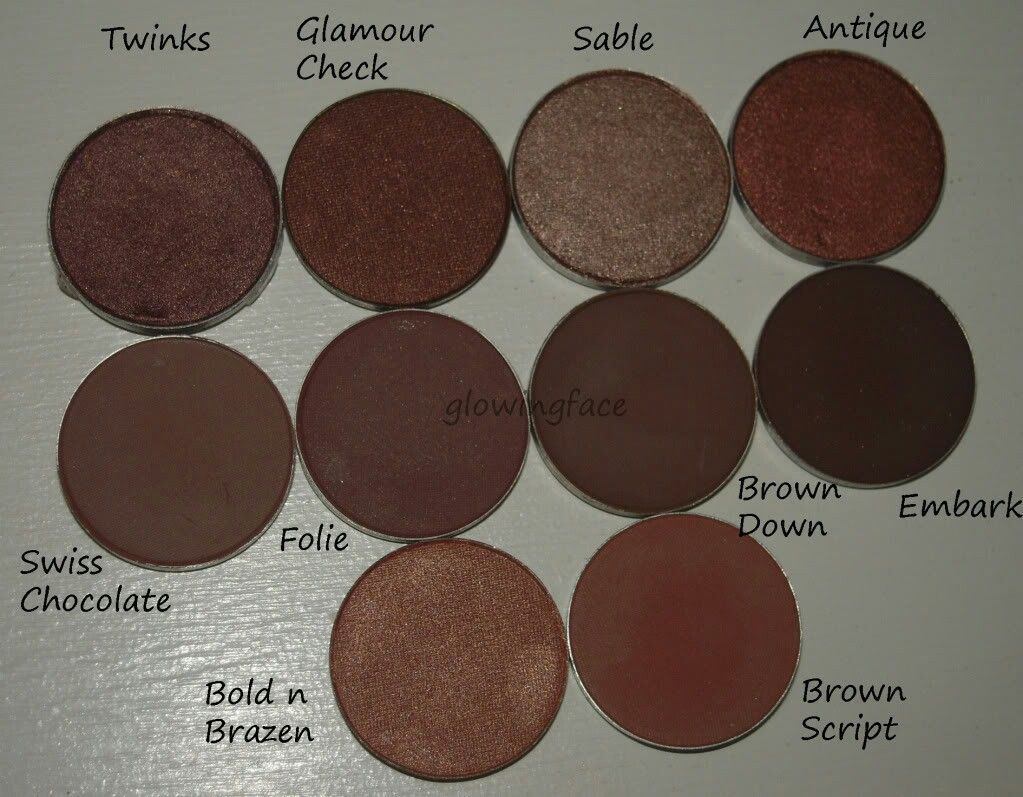 best mac eyeshadows for medium/brown/dark skin tones