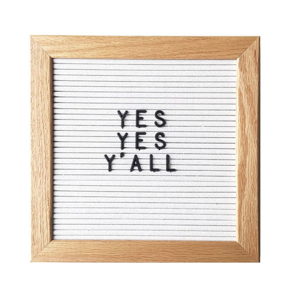 10x10 Letter Board In White Frame And Plastic Letter Framed Letters Letter Board Wood Frame